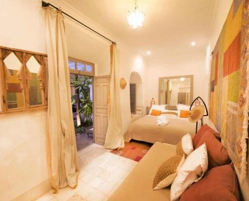 Photo de la chambre Berbère dans un riad à Marrakech au Maroc