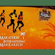 Affiche orange du Marathon de Marrakech